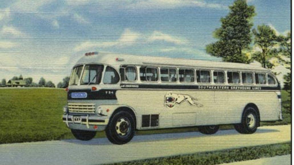 vintage greyhound bus 001 Rock History 101: Simon and Garfunkels America