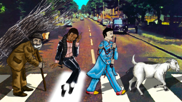 The 100 Greatest Albums of All Time, artwork by Cap Blackard