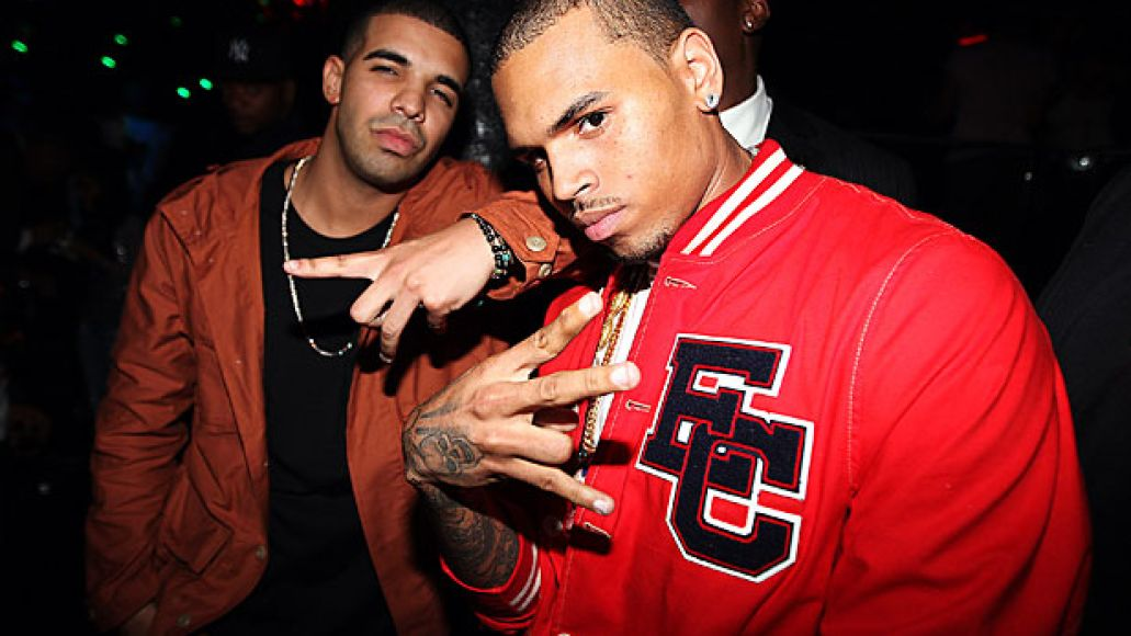 drake and chris brown Check Out: Chris Browns Deuces remix featuring Kanye West, Andre 3000
