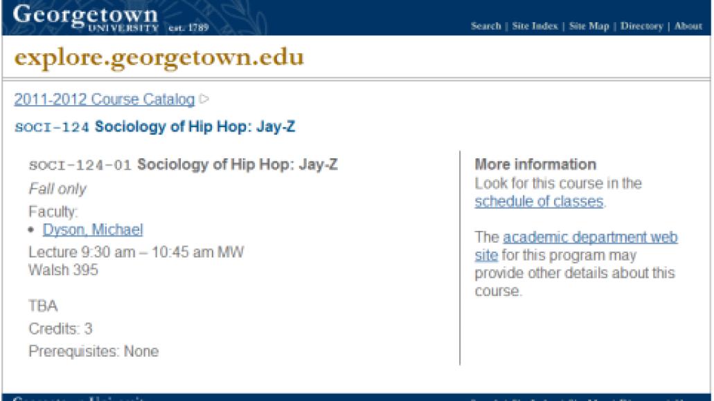 soci 124 sociology of hip hop jay z 2011 2012 course catalog georgetown university Georgetown University offers class on all things Jay Z