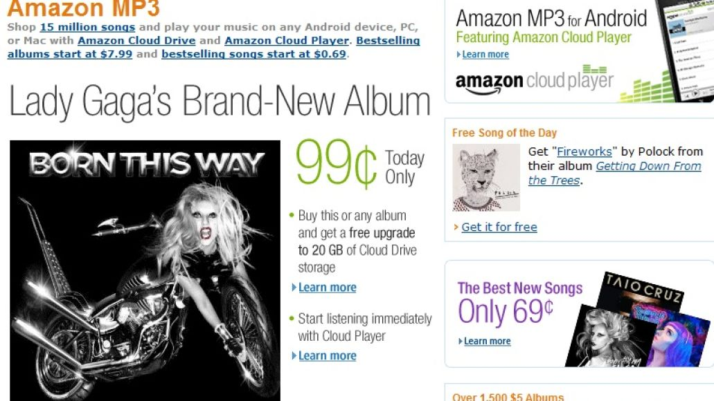 gaga amazon Billboard Charts implement new pricing policy