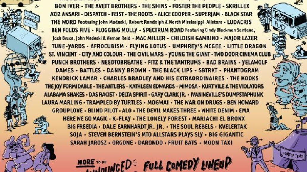 bonnaroo 2012 poster Radiohead, Red Hot Chili Peppers, Phish head Bonnaroo 2012