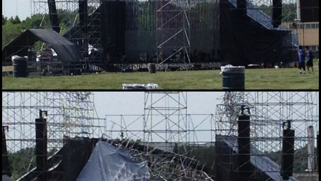 radiohead stage Update: Radioheads stage collapses in Toronto
