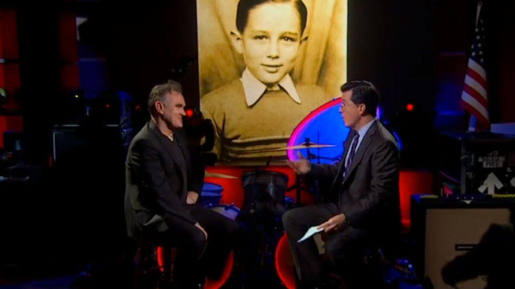 colbert morrissey 1 Video: Morrissey on The Colbert Report