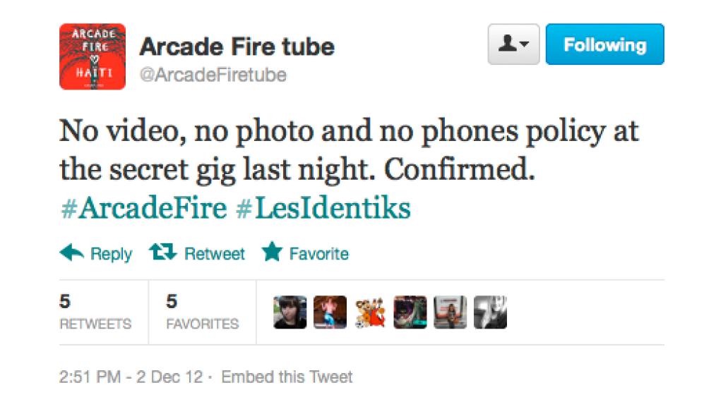 screen shot 2012 12 03 at 9 19 59 am Arcade Fire preview new music at secret show