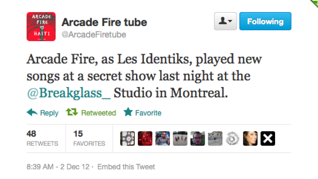 screen shot 2012 12 03 at 9.16.45 am e1354547906179 Arcade Fire preview new music at secret show