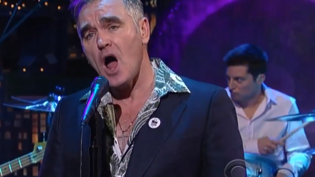 screen shot 2013 01 09 at 7.27.37 am e1357738144329 Video: Morrissey on Letterman
