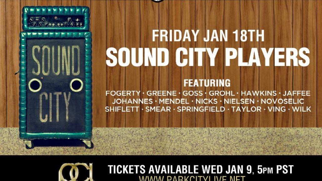 sound city park city Surprise! Dave Grohls Sound City Players lineup is insane