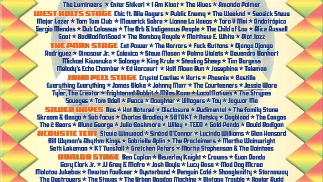 glastonbury 2013 lineup