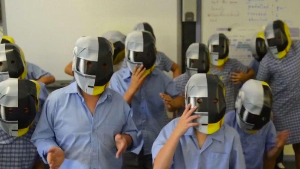daftpunk weewaapic The people of Wee Waa, Australia celebrate the coming of Daft Punk