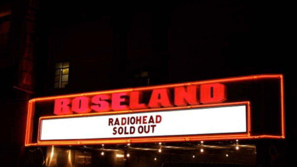 Radiohead Roseland 201101