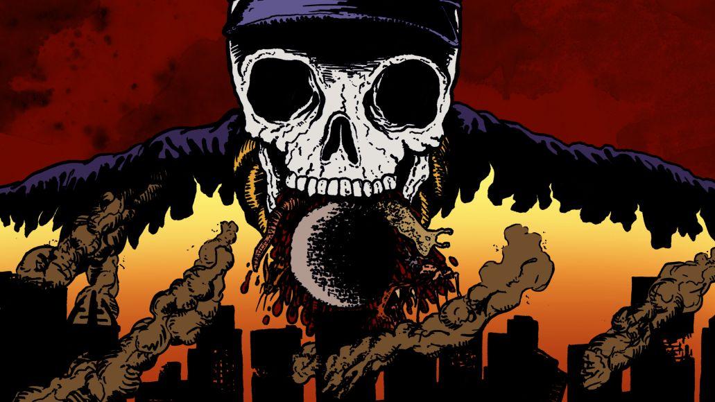 The 13 Scariest Hip-Hop Songs, artwork by Cap Blackard