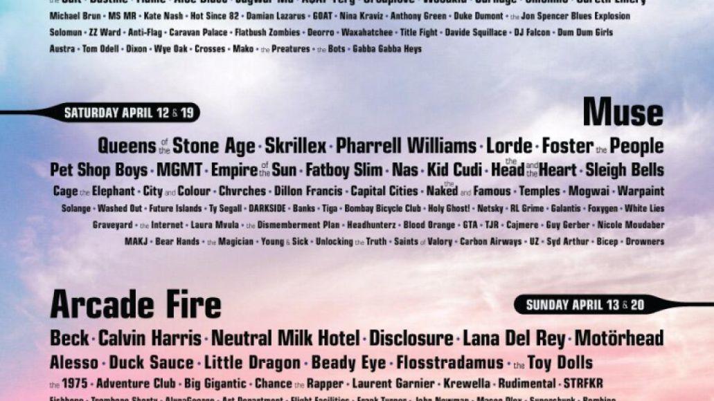 coachella 2014 poster1 Top 10 Music Festivals in North America: Summer 2014 Power Rankings