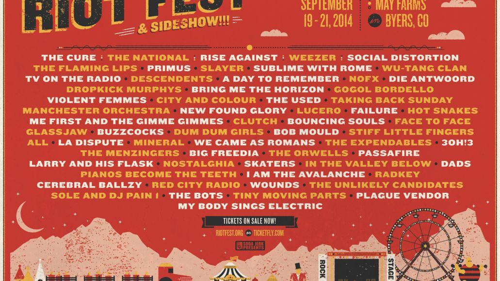 Riot Fest Denver 2014 lineup