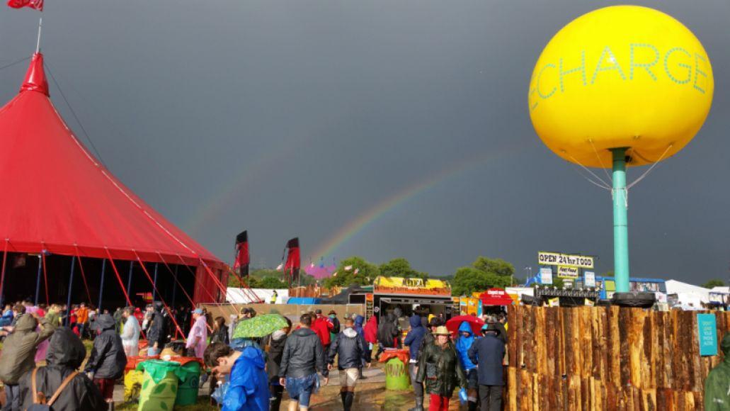 rainbow double Glastonbury 2014: Top 30 Moments + Photos