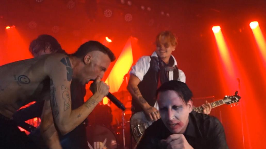 Marilyn Manson Ninja Johnny Depp