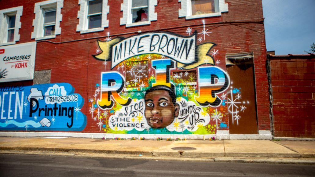 ferguson mike brown mural  Feeling Ferguson: Now Is the Time for Your Tears