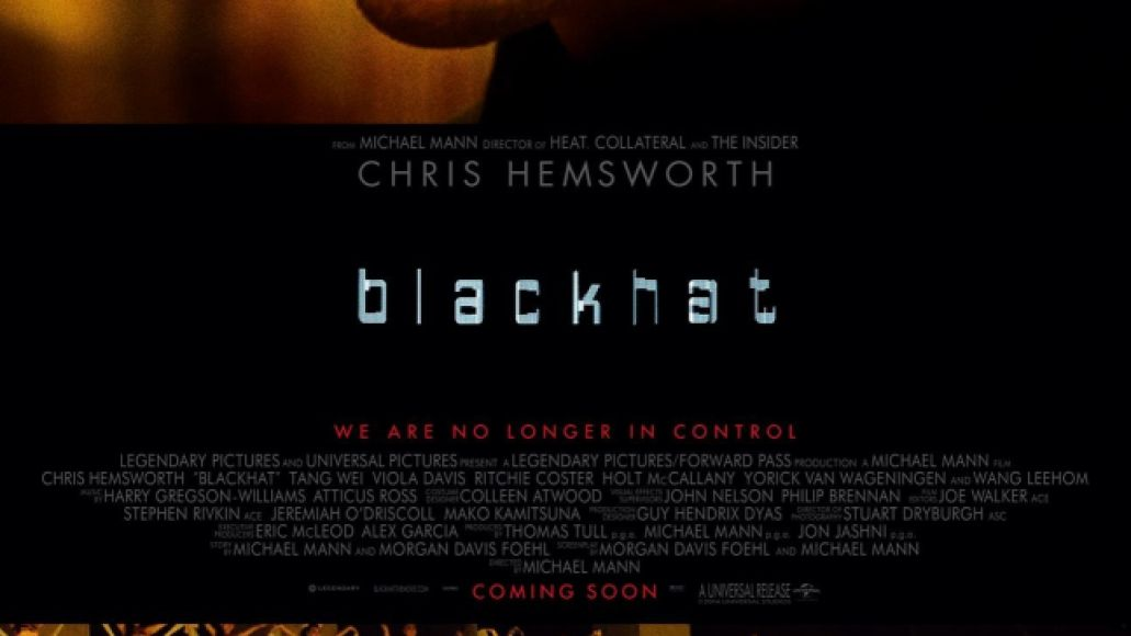 blackhat poster Ranking Michael Mann: Every Film from Worst to Best