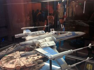 Millennium Falcon and X-Wing