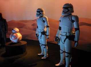 BB-8 and Stormtroopers