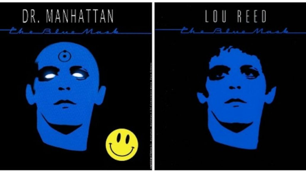 lou reed dr manhattan Artist reimagines classic album covers with comic book heroes and villains