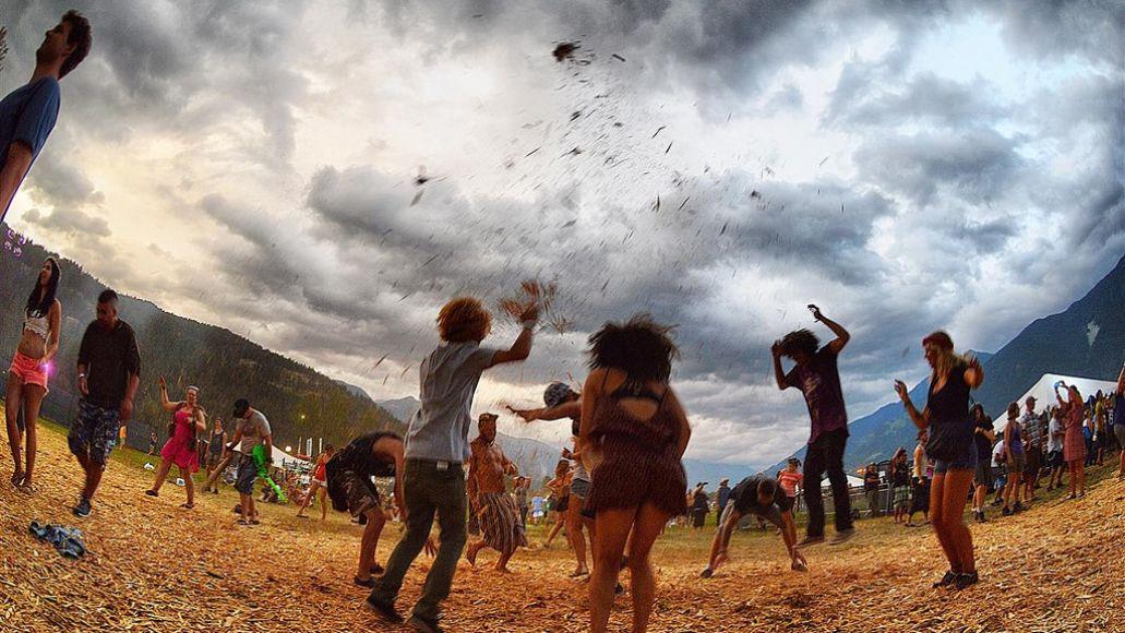 people dancing in hay