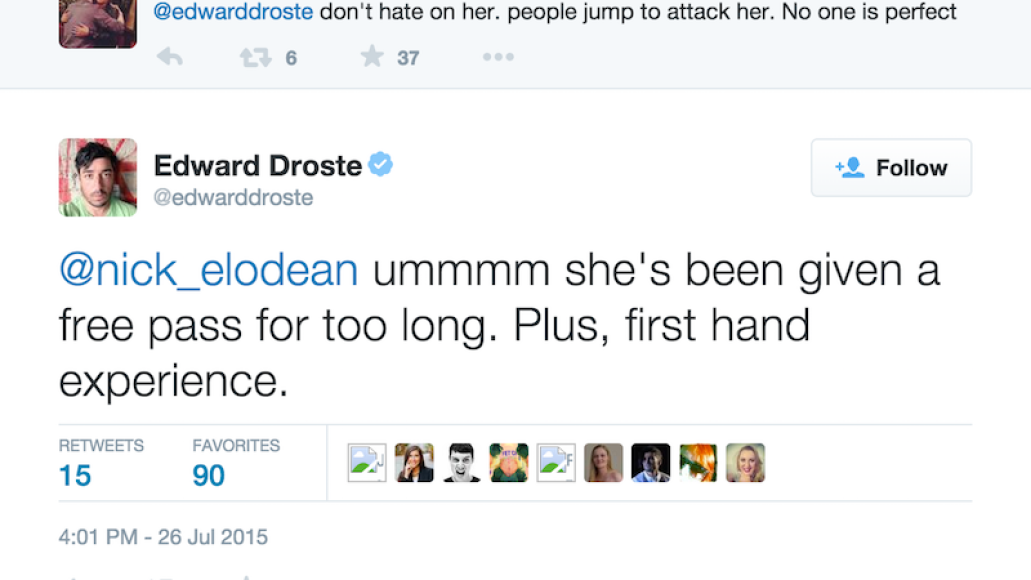 3rd droste taylor swift twitter beef Grizzly Bears Ed Droste quits Twitter after being harassed by Taylor Swift fans
