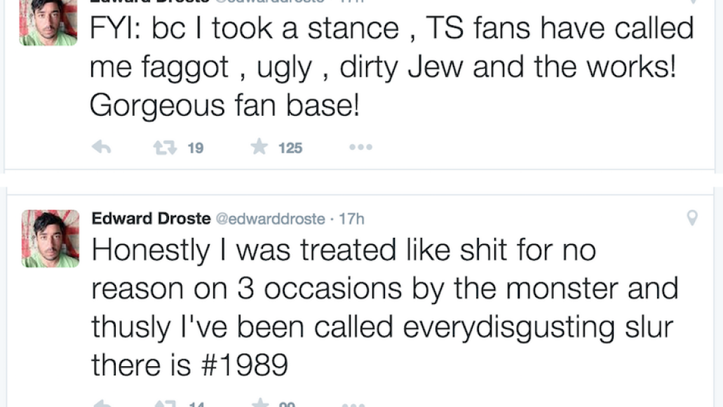 droste taylor swift twitter feud 5th Grizzly Bears Ed Droste quits Twitter after being harassed by Taylor Swift fans