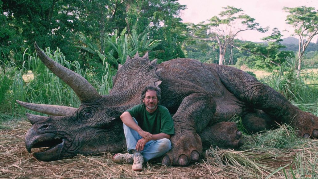 spielberg triceratops viral 10 Years, 10 Questions With David Koepp: On Jurassic Park, Indiana Jones, Spider Man, and Stephen King