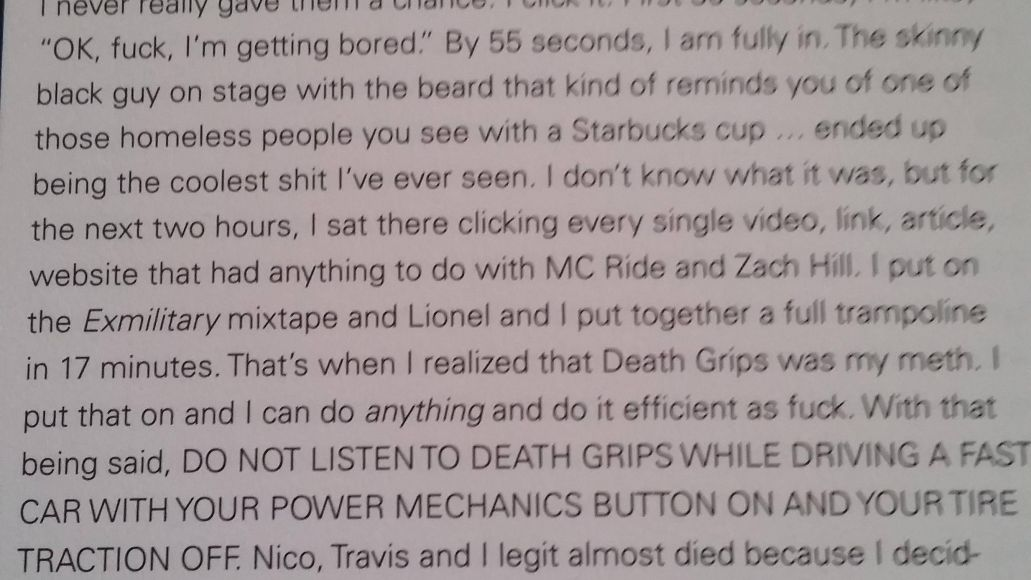 tyler Youve got to read Tyler the Creators review of Death Grips The Money Store