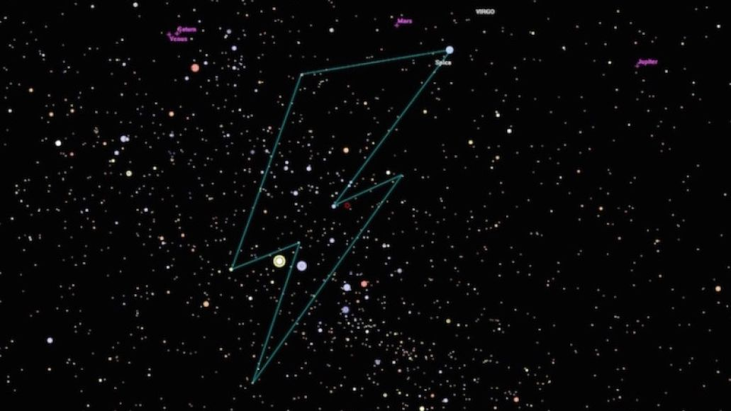 david bowie stars constellation David Bowie honored with his very own lightning bolt constellation