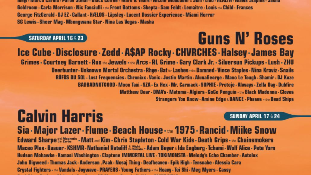 coa17 festhistory poster2016 Ranking: Every Coachella Lineup from Worst to Best