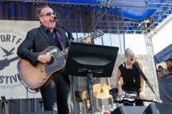 Elvis Costello with Larkin Poe // Photo by Ben Kaye