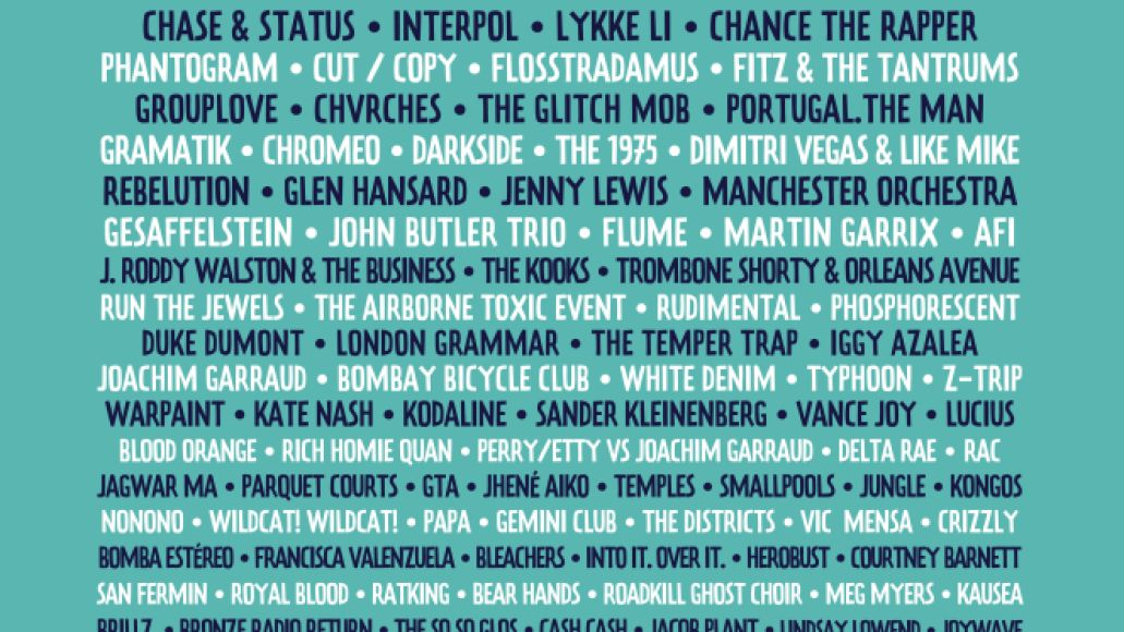 lollapalooza lineup 2014 poster Ranking: Every Lollapalooza Lineup from Worst to Best