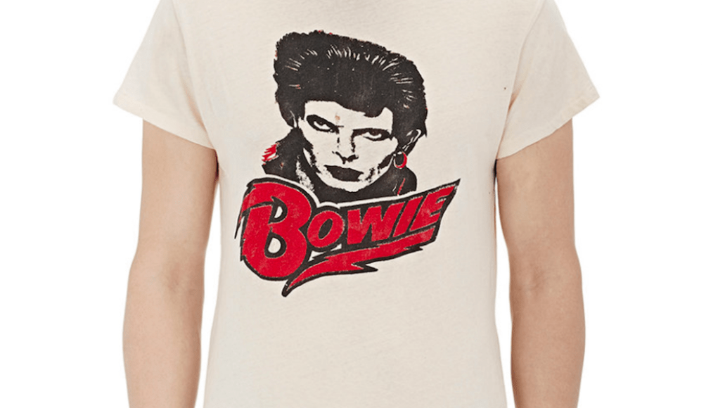 bowie shirt Barneys is selling obscenely expensive band t shirts