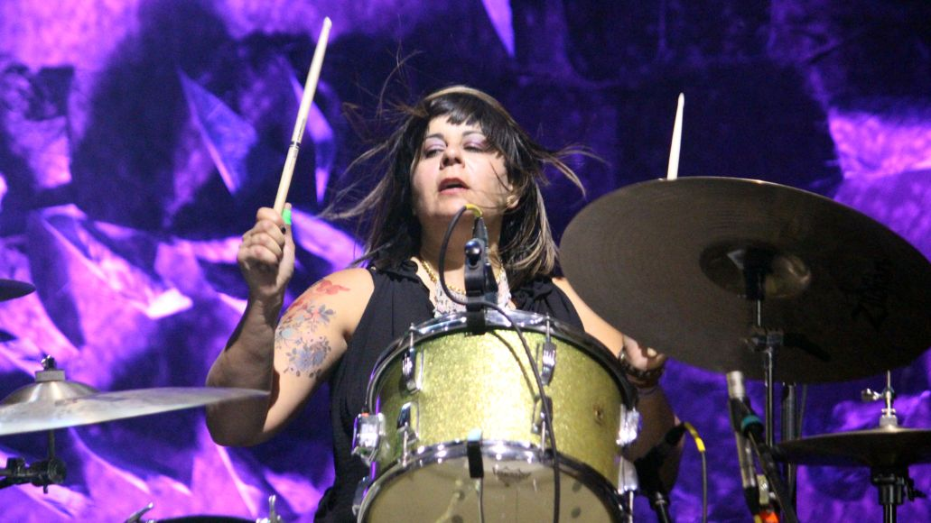 Janet Weiss of Sleater-Kinney, photo by Heather Kaplan