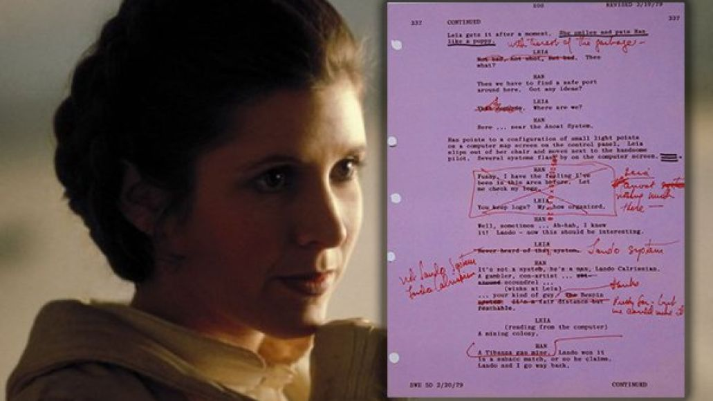 carrie fisher script Five Reasons Carrie Fisher Ruled Our Galaxy