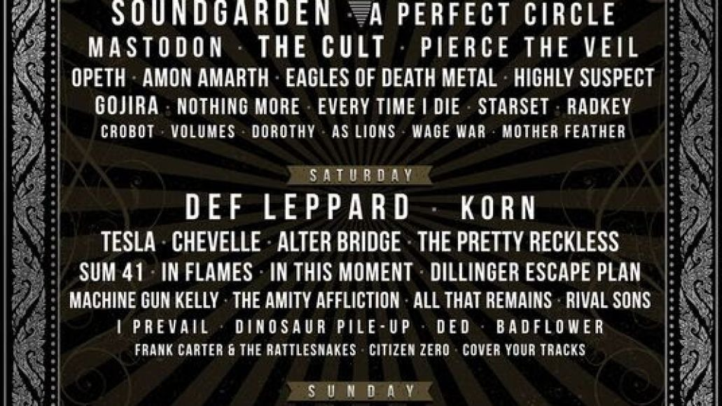 unnamed 3 Soundgarden, A Perfect Circle to headline Carolina Rebellion 2017