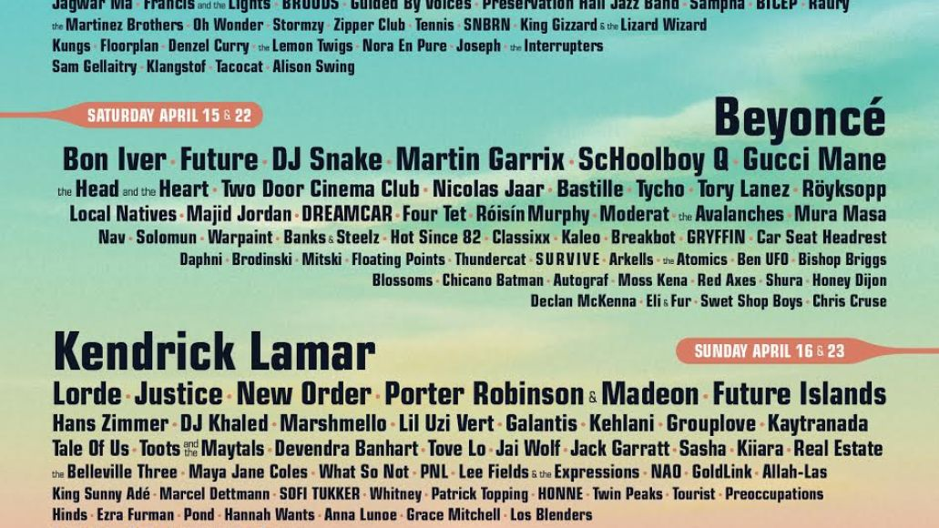 coachella 2017 Top 10 Music Festivals: Spring 2017 Power Rankings