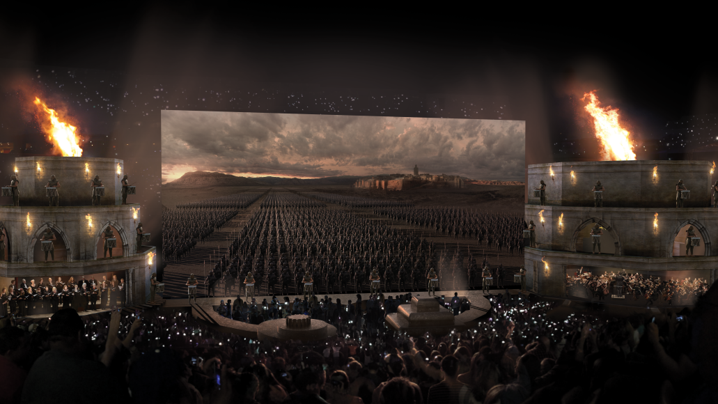 got photos Behind the Scenes of The Game of Thrones Live Experience