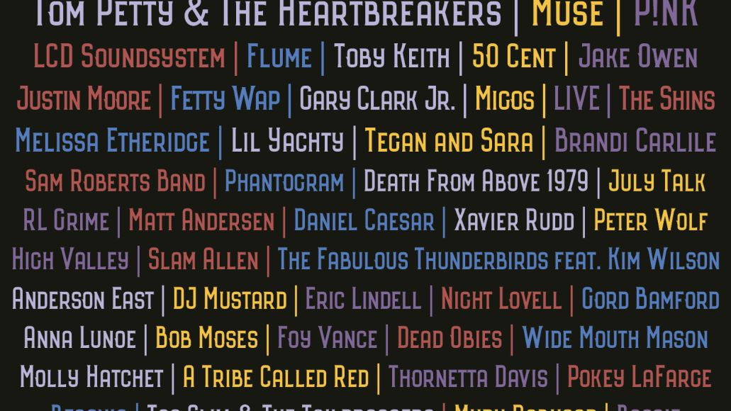 rbc bluesfest 2017 show poster including locals1 Ottawa Bluesfest reveals 2017 lineup: Tom Petty, LCD Soundsystem, MUSE to headline