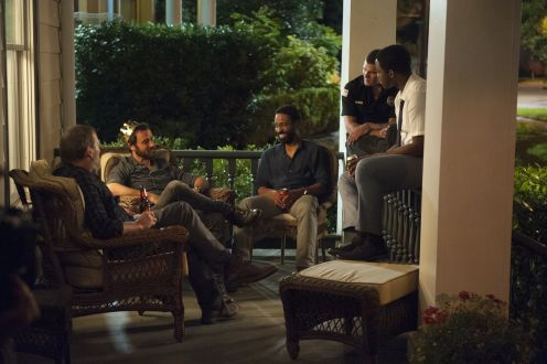 Justin Theroux, Kevin Carroll, Chris Zylka, and Jovan Adepo // The Leftovers