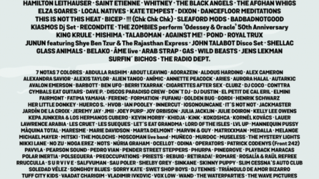 primavera updated The Best of the Tiny Fonts at Primavera Sound 2017