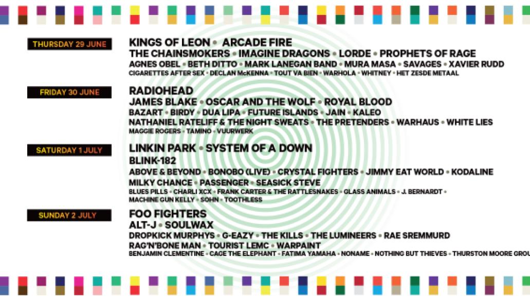 rock werchter Top 10 Music Festivals: Spring 2017 Power Rankings