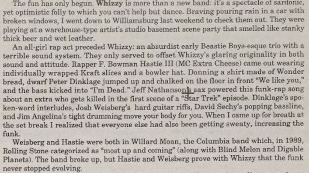 peter dinklage whizzy band Peter Dinklage was in a sardonic New York punk band called Whizzy