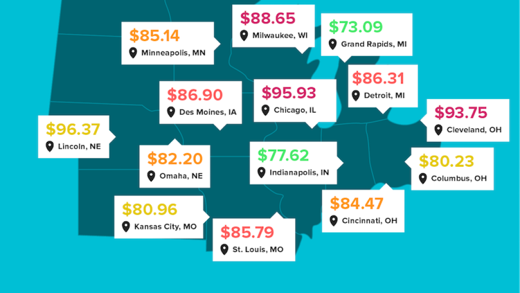 concert ticket prices midwest us Heres how concert ticket prices vary across the US