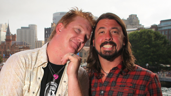 Josh Homme and Dave Grohl