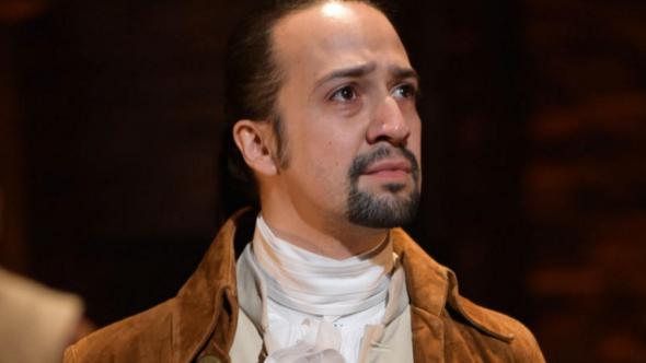 Lin Manuel Miranda in Hamilton