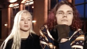 D'Arcy Wretzky and Billy Corgan
