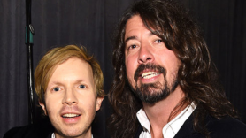 Dave Grohl of Foo Fighters with Beck